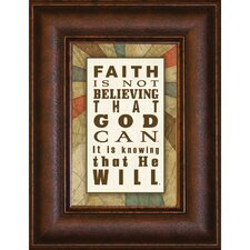 <strong>The James Lawrence Company</strong> Faith is not Mini Framed Wall Art