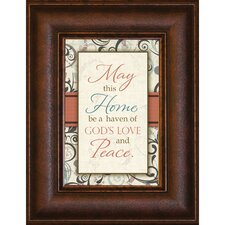 <strong>The James Lawrence Company</strong> May This Home Mini Framed Wall Art