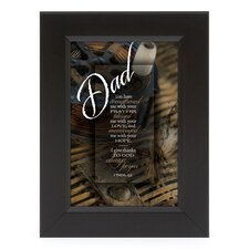 Dad - You Have Strengthened Me Shadow Box Framed Wall Art