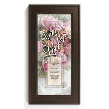 Faith Hope Love Framed Graphic Art