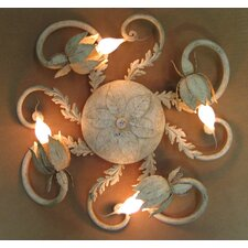 <strong>Laura Lee Designs</strong> Floral Ceiling 4 Light Flush Mount
