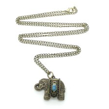 <strong>Jordan and Taylor</strong> Blue Elephant Pocket Watch