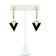 Double Dagger Drop Earrings