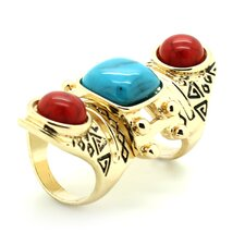 <strong>Jordan and Taylor</strong> Zoey Chunky Turquoise Ring