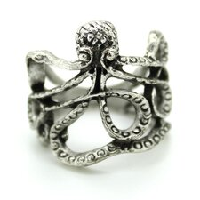 <strong>Jordan and Taylor</strong> Silver Octopus Ring