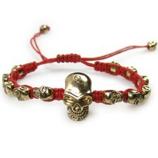 <strong>Jordan and Taylor</strong> Weaving Skull Friendship Cord Bracelet