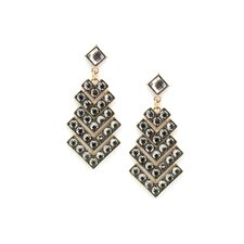 Chandelier Square Cut Rhinestone Drop Earrings