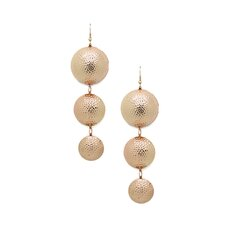 Classic Rose Drop Earrings