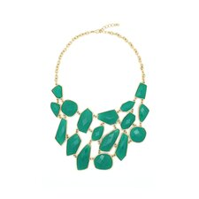 Gold Emerald Chain Necklace