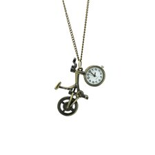 Bicycle Necklace Watch