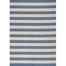 Alpha Blue Nautical Stripes Rug
