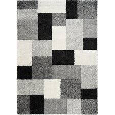 Nuance Black / White Block Rug