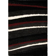 <strong>Kalora</strong> Shaggy Red / White Stripes Rug