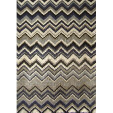 Nuance Blue Grey Chevron Rug