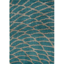 Shaggy Peacock Area Rug