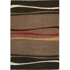 Sydney Gold / Red Stripe Rug
