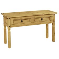 <strong>Hometime</strong> Aztec Mexican Pine Console Table