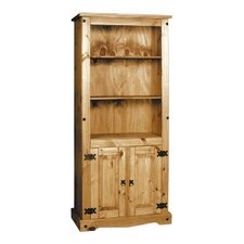 Aztec Mexican Pine Bookcase with 2 Doors
