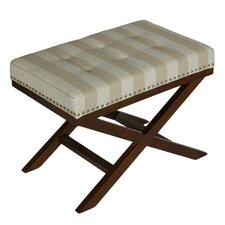 Kayla Beach Stripes Bench Ottoman