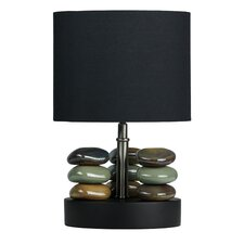 "LumiRock Hoodoo 14"" H Table Lamp with Drum Shade"