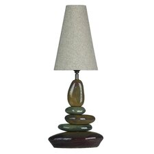 "LumiRock Earthclops 26"" H Table Lamp with Empire Shade"