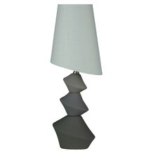 "LumiRock Asteroid 22"" H Table Lamp with Empire Shade"