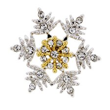 Christmas Snowflake Perovskia Crystal Brooch