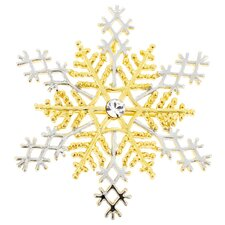 Snowflake Christmas Perovskia Crystal Brooch Pendant
