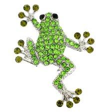 Sticky Frog Crystal Pin Brooch