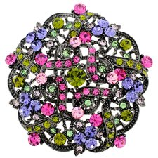 Flower Wedding Crystal Brooch Pendant