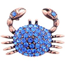 Crab Crystal Brooch