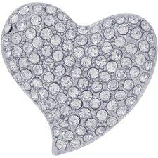 Valentines Heart Crystal Brooch