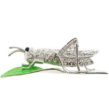 Grasshopper Crystal Brooch