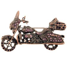 <strong>Fantasyard</strong> Harley Davidson Motorcycle Sports Crystal Brooch