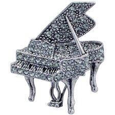 Piano Crystal Brooch