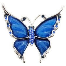 Butterfly Crystal Brooch Pendant