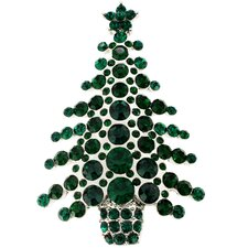 <strong>Fantasyard</strong> Abstract Christmas Tree Crystal Brooch