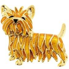Scottie Dog Animal Crystal Brooch