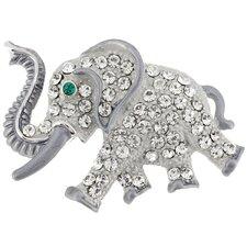 Elephant Animal Crystal Pin Brooch
