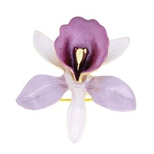 <strong>Fantasyard</strong> Orchid Flower Crystal Brooch