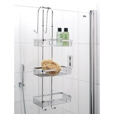 Nero Shower Shelf in Chrome with Tray