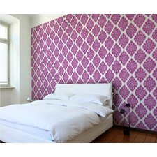 Floral Diamond Damask Wall Tiles