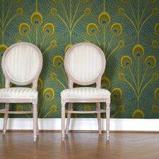 Sarah LaVoie Peacock Tiles Wallpaper