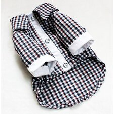 <strong>Kane and Couture</strong> Boyfriend Gingham Button Down Shirt