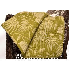Plantation Floral Lime Cotton Quilted Throw