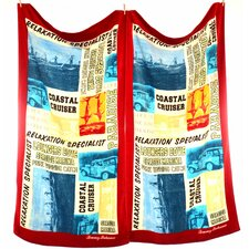 Paddleboard Squares Beach Towel (Set of 2)
