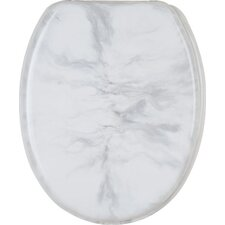 Marmor Toilet Seat in White and Grey