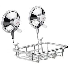 Tray in Chrome with Suction Cups
