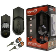 "2"" Remote Control Electronic Deadbolt"