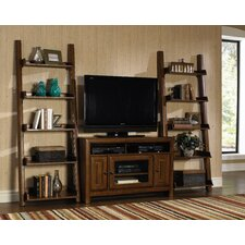 "Jaden 48"" TV Stand with 2 Inclining Bookshelf Piers"